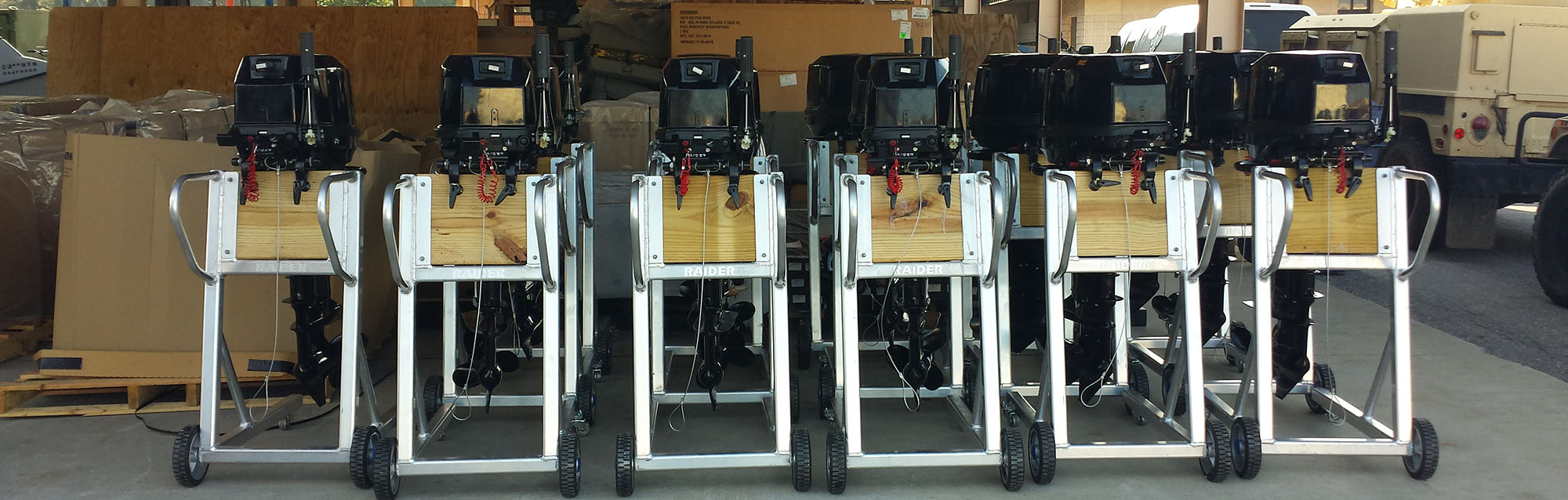 Raider Outboards | Multi-Fuel Submersible Electric Start Outboard